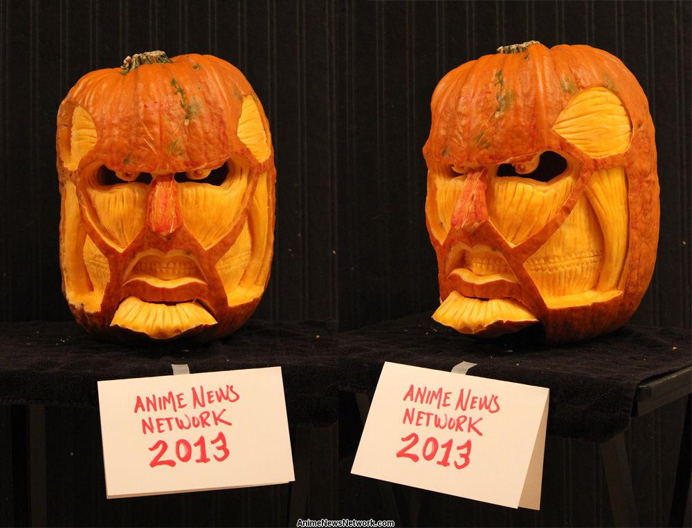 annual pumpkin carving contest pumpkins anime news network