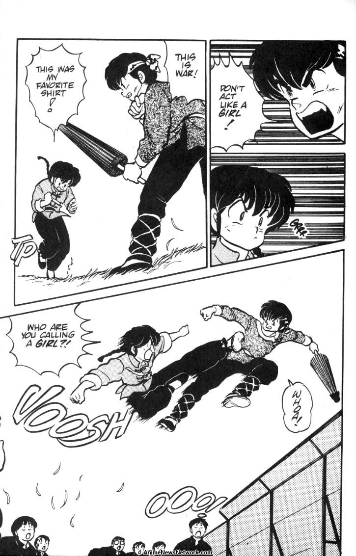 The love story is also slapstick. Like almost every long-running romantic  comedy, Ranma 1/2 is a huge tease. Characters are always almost confessing  their ...