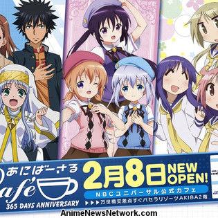 NBC Universal Entertainment Japan Opens Anime Cafe in Akihabara