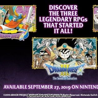 1st 3 Dragon Quest Games Head West for Switch on September 27