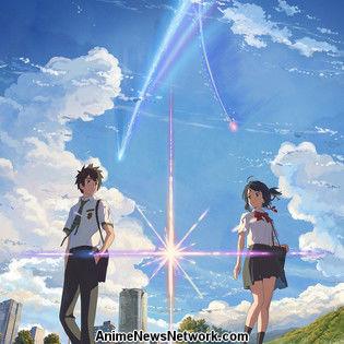 Makoto Shinkai's your name. Ranks #1, Shin Godzilla Drops to #3