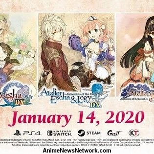 Atelier Dusk Trilogy Deluxe Pack Game Collection's 2nd English Promo Video Streamed