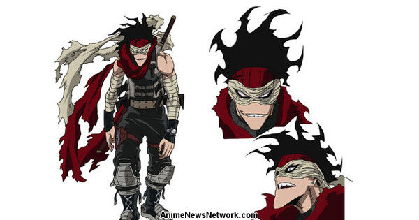 my hero academia anime reveals character design for stain - news