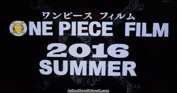 One Piece Gets New Anime Film in Summer 2016