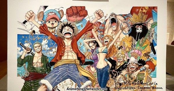 One Piece's Eiichiro Oda Draws Original Illustration for French President