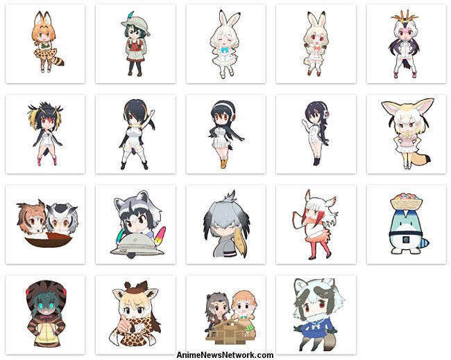 Grape-kun y Hululu vuelan alto en Kemono Friends Itasha Avion Design