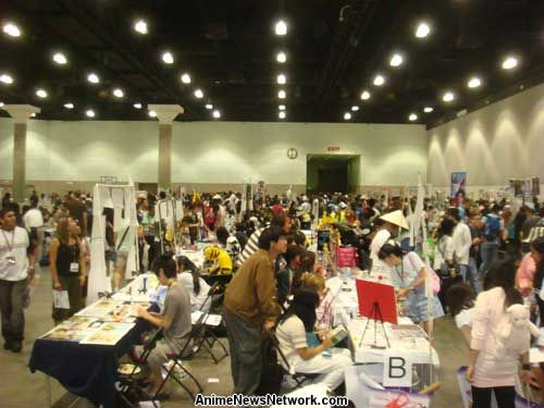 In Addition To The Artist Tables Anime Expo Art Show Is Displayed Nearby Made Up Of Work Submitted By Alley Vendors And Other