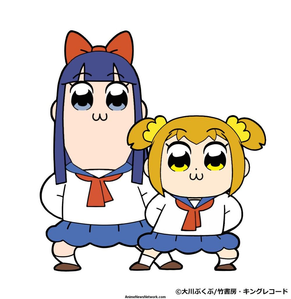 the surreal four panel manga centers around two 14 year old girls the short popuko and the tall pipimi the story summary on the animes website quotes