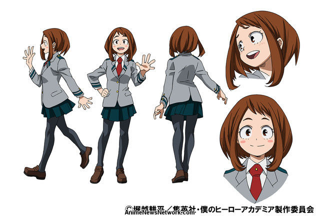 Character Design Art School : My hero academia anime s ochako tenya character designs