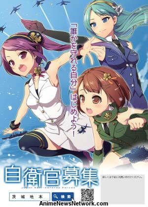 ah ibaragi Bất chấp dư luận xã hội , Quân đội Nhật Bản vẫn tiếp tục sử dụng hình ảnh từ Anime để kêu gọi nghĩa vụ quân sự