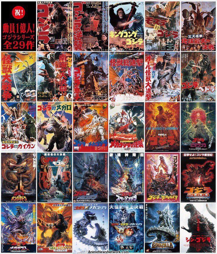 Toho's 29 Godzilla Films Have Sold Over 100 Million ...