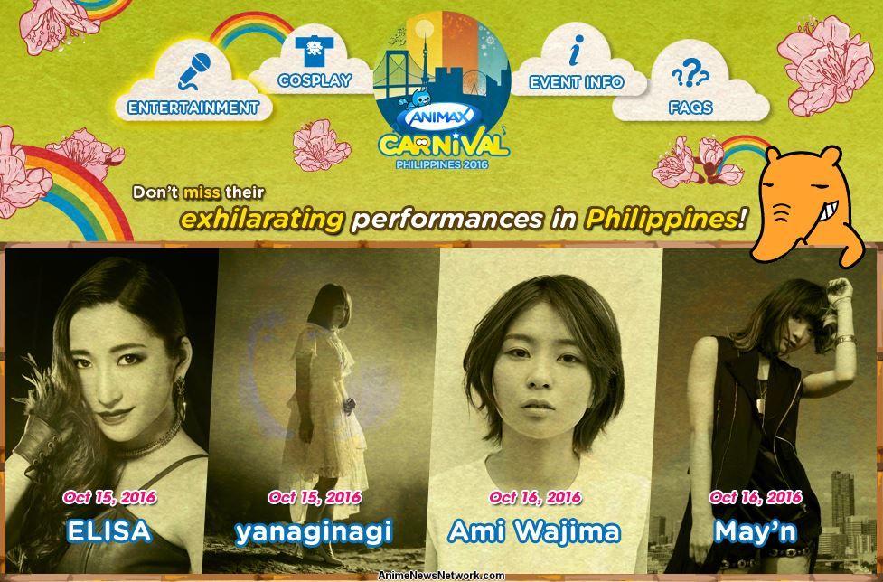 Animax Carnival Philippines to Host Elisa, yanaginagi, Ami ...
