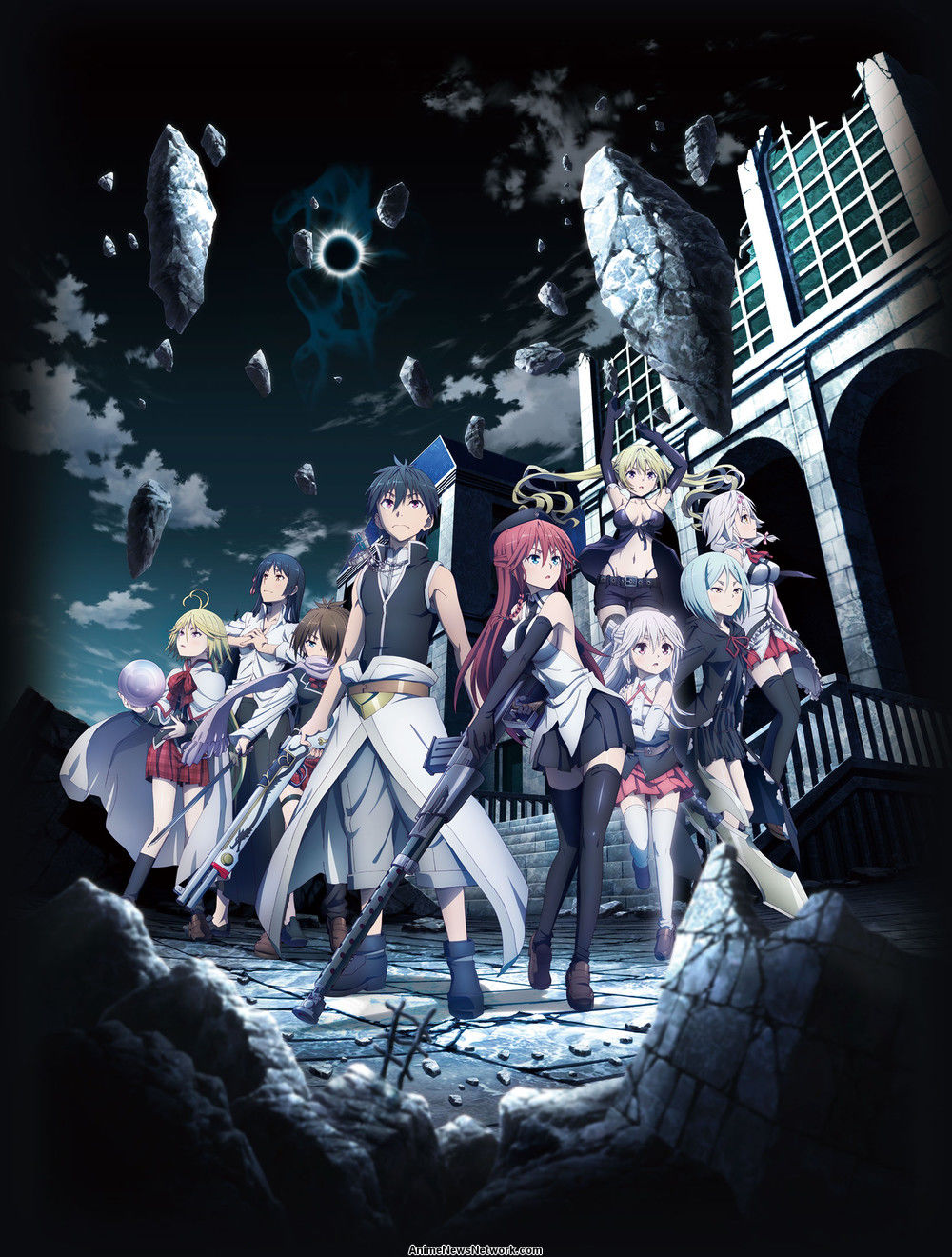 trinity seven film s new cast story title visual  the film s story begins when arata inadvertently touches hermes apocrypha lilith s grimoire suddenly he is enveloped by a bright white light