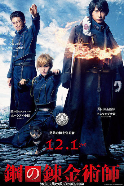 poster mustang hawkeye hughes live action Fullmetal Alchemist