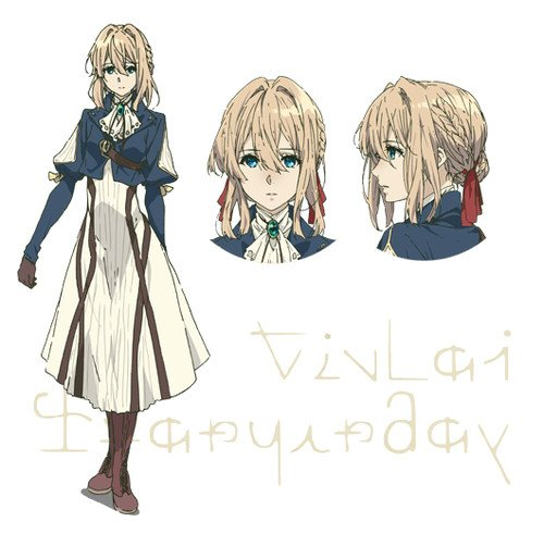 Character Design Major : Violet evergarden anime reveals character designs news